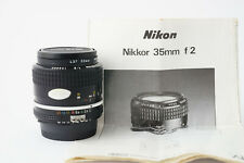Objectif NIKON NIKKOR 35mm F2 Ai - TRES BON ETAT