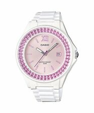 LX-500H-4E White Pink Casio Ladies Watches Resin Band 50M Analog Date Brand-New