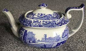 SPODE  Blue Italian Design Large Teapot