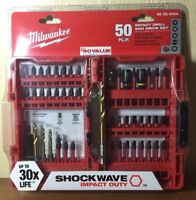 Milwaukee ❤️ New Impact Drill & Drive Set 50 Pieces ~free ship~