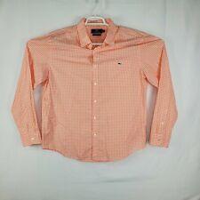Vineyard Vines Mens Slim Fit Tucker Shirt Salmon Gingham Plaid Button Up Size XL