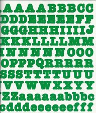 Creative Memories LARGE BOLD ABC / 123 Stickers - GREEN