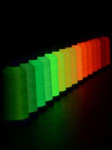 1000m Spule Schwarzlicht Garn POLYNEON NO.40 Neon Kone Stickgarn Fluoreszierend