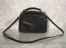 COACH VINTAGE black LEATHER LUNCH BOX BAG CROSSBODY PURSE #9991 EUC GREAT