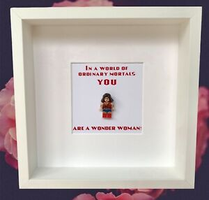 Wonder Woman minifigure box frame gift Birthdays Special Occasions Gifts For Her