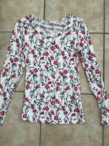 M&S Multicoloured Long Sleeve T-Shirt. Size 10.