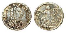 NAPOLI - CARLO DI BORBONE -AG/ 1/2 CARLINO 1759 DA 5 GRANA