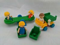 Lil Playmates Figures Lift Truck Chairs Seesaw People Lot Vintage