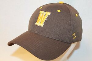 "Wyoming Cowboys Hat Cap ""The Brown Flexfit ZH W Cap by Zephyr NCAA Caps"