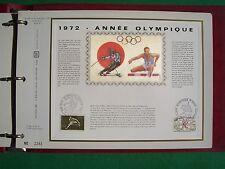 Feuillet artistique philatélique CEF no.208 (no.23 Soie) Année Olympique
