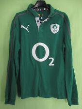 Maillot rugby Irlande coton Puma Ireland vintage Eire Jersey Manche Longue - M