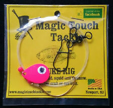 Magic Touch Tackle No.540 FLUKE RIG with PINK SPINNER - Weakfish - Flounder