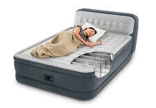 Genuine Intex Queen Deluxe Plush Raised Air Bed Mattress W Electric Pump 46cm