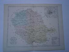 Carte 19° 1852  couleur atlas Malte brun Département du Tarn Plan d'Albi