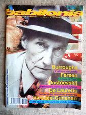 BABILONIA mensile gay e lesbico n.159 ottobre 1997 - Burroughs, Fersen, Versace