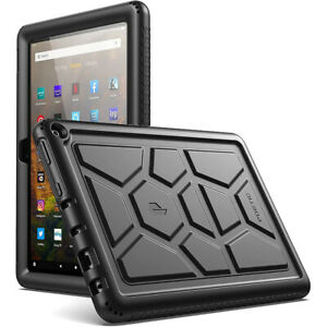For Amazon Fire HD 10 (2021) Tablet Case | Poetic® Soft Silicone Cover Black