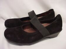 LADIES SIZE 41/ 11 WOLKY BLACK SUEDE LEATHER MARY JANE SHOES EUC