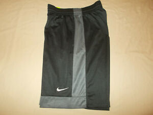 NIKE GRAY ATHLETIC BASKETBALL SHORTS MENS LARGE EXCELLENT CONDITION