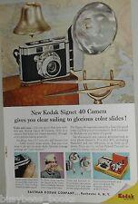 1957 Kodak ad, Kodak Signet 40 Camera, nautical