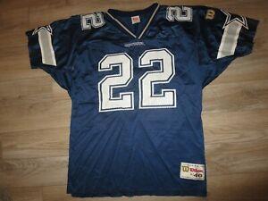 Emmitt Smith #22 Dallas Cowboys NFL Wilson Football Jersey LG 46 Rookie