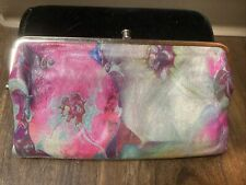 Vtg Hobo Original Leather Clutch Wallet Psychedelic Hippie Tie Dye Purse Lauren