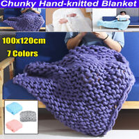 40x47'' Soft Hand Chunky Knitted Home Sofa Bed Blanket Sofa Bed Throws Blankets