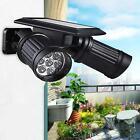 14 LED Dual Head Solar Powered Yard Lights PIR Motion Sensor Spotlight Wall lamp