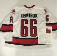 MARIO LEMIEUX SIGNED TEAM CANADA JERSEY WORLD CUP OF HOCKEY PENGUINS HOF JSA LOA