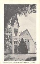 Danielson Connecticut~Baptist Church~1940s B&W Postcard