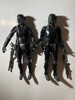 """Star Wars Black Series 6"""" Rogue One Death Trooper Exclusive Specialist Lot Of 2"""