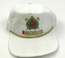 NEW VINTAGE MICHELOB GOLF Trucker Hat Presidential Leather Strap Ball Cap USA