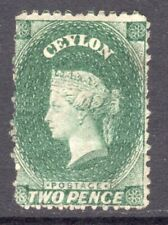 CEYLON 1863-66 QV 2d grey-green wmk tall Crown CC un., creases, SG 50 cat £100