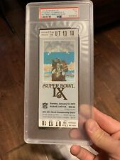PSA Ticket Football 1975 Super Bowl IX Full Pittsburgh Steelers Minnesota
