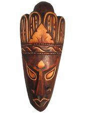 "Hand Carved African Tribal Wooden Mask, Home Builder, 8"" #FET-SMM-A1"