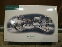 D 56 Department 56 Thorough Breds Set of 5 Horses NEW IN BOX