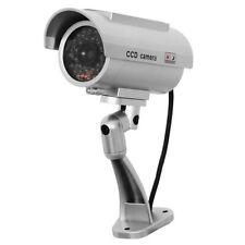 Solar Powered Dummy Surveillance Security Camera CCTV with LED Record Light