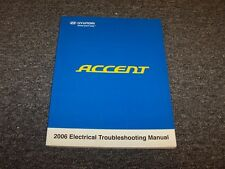 2006 Hyundai Accent Factory Electrical Wiring Diagram Manual Book GS GLS GL 1.6L