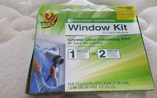"Duck Brand Indoor Clear Insulating Window Film Kit. 84"" x 120"". NEW"