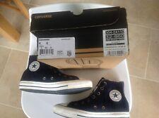 Converse All Stars Chuck Taylor Navy Blue + White Cardy Shearling Hi Tops UK 4