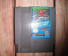 VINTAGE NINTENDO NES 1985 WORLD CLASS TRACK MEET GAME CLEANED AND TESTED