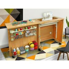 Compact Sewing Centre - Beech