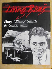 "LIVING BLUES MAGAZINE #72 (1986) Huey ""Piano"" Smith, Guitar Slim, Eddie Taylor"