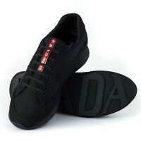 Prada Runners Mens Black Trainers Size UK 8.5 EU 42.5 New With Box RRP £495