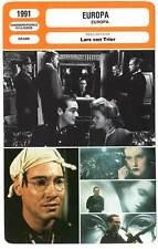 FICHE CINEMA : EUROPA - Sukowa,Barr,Kier,Von Sydow,Von Trier 1991