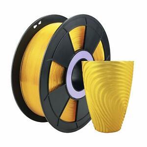 Translucent Yellow Flexible PLA 3D Printing Filament 1kg/2.2lb 1.75mm