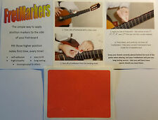 x140 FRETMARKERS SIDE MARKER GUITAR FRET INLAY DOT RODS 5.0mm DIAMETER IN RED