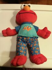 Sesame Street Sleepy Time Talking Elmo 2010-Excellent Condition  13""
