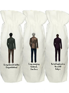 Personalised Wine Bag for Husband, Boyfriend, Dad, Grandad, Brother, Uncle