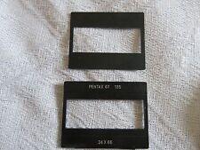 pentax 6x7 67 67II cache pour photographier en 24x36  format 135 avec axes