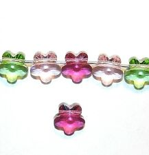 SCXY1125 Pastel Assortment Pink Green Faceted Flower 8mm Swarovski Crystal Beads